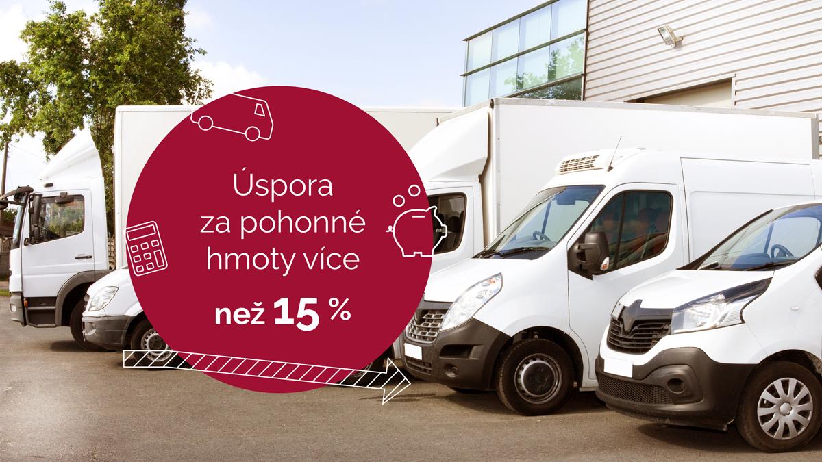 Optimalizace nákladů a monitoring vozidel - vozidla 3,5 - 12 ton